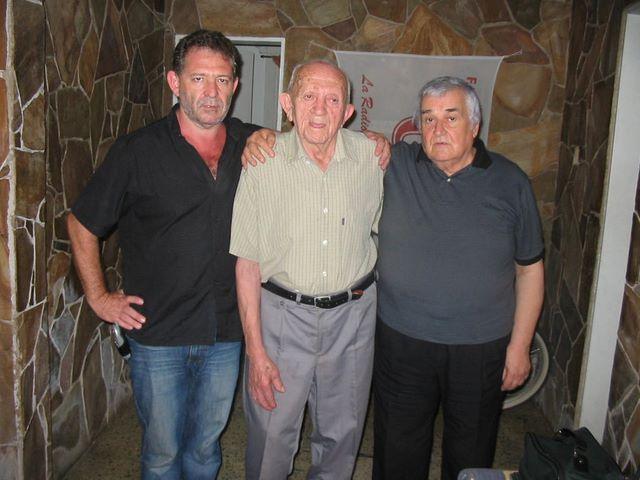 Armando y Roberto Cassale con el Maestro Montironi